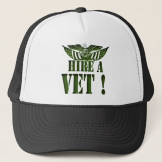 HIRE A VET GEAR MILITARY HEROES HELP THEM TRUCKER HAT