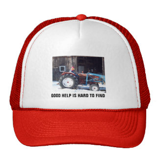 Hired Hand Rooster driving Tractor - Funny Cap
