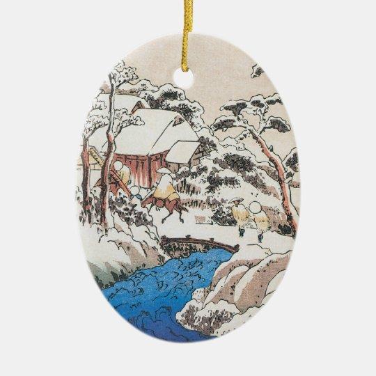 Hiroshige Japanese Fine Art Christmas Christmas Ornament
