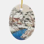 Hiroshige Japanese Fine Art Christmas Christmas Tree Ornament