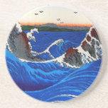 Hiroshige Navaro Rapids Fine Japanese Vintage Sandstone Coaster