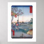 Hiroshige Utagawa Mt Fuji Through the Waves Poster