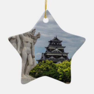 Hiroshima Castle Ceramic Star Decoration