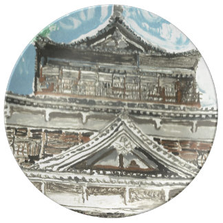 Hiroshima Castle Japan Decorative Porcelain Plate