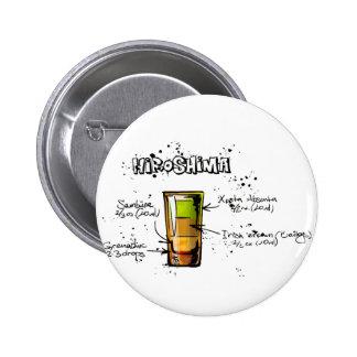 Hiroshima Cocktail  Recipe 6 Cm Round Badge