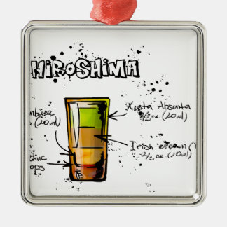 Hiroshima Cocktail  Recipe Christmas Ornament