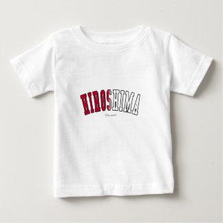 Hiroshima in Japan national flag colors T-shirts