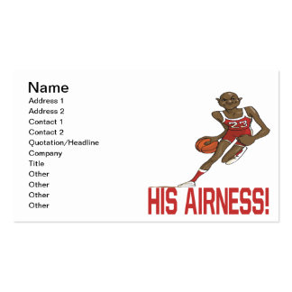 His Airness Pack Of Standard Business Cards