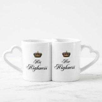 His and Her Highness mug set