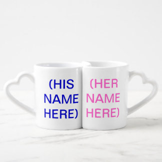 His And Hers Lovers Mugs - (Add Text and Photo)