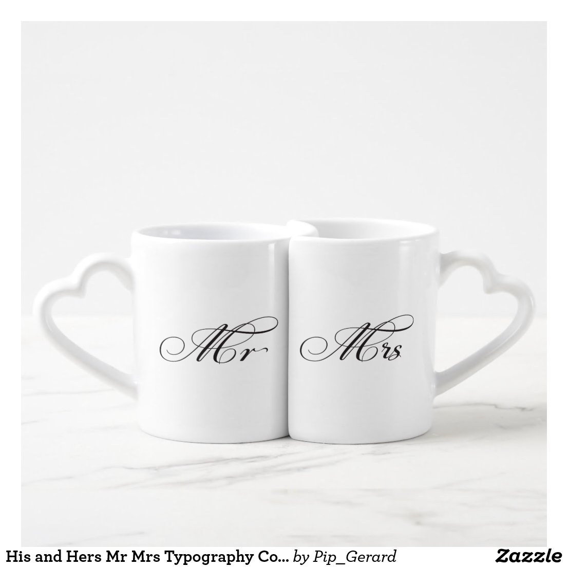 His and Hers Mr Mrs Typography Couples Love Mugs