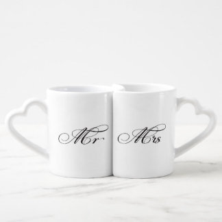 His and Hers Mr Mrs Typography Couples Love Mugs Lovers Mug