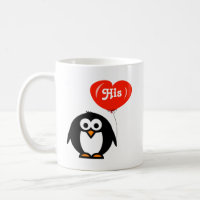 His and hers Penguin Mugs