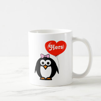 His and hers penguin mugs | matching set