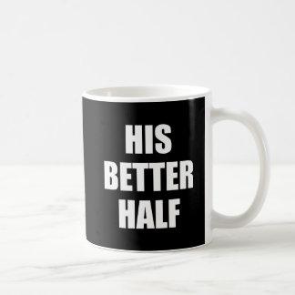 His Better Half Basic White Mug