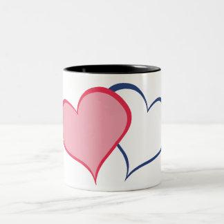His BETTER HALF SHE+he (1 of 2) Two-Tone Coffee Mug