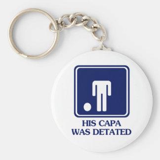 His Capa was Detated Key Chains