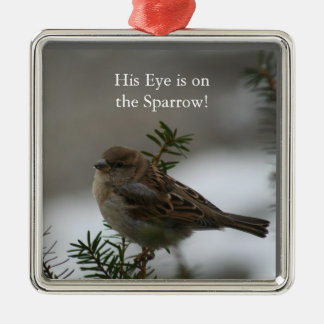 His eye is on the sparrow, pendant christmas ornament