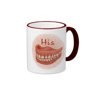 His False Teeth Ringer Mug