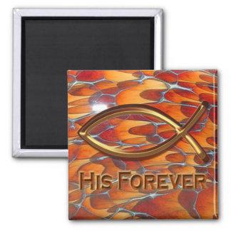 His Forever Magnet (tortoise shell) Fridge Magnets