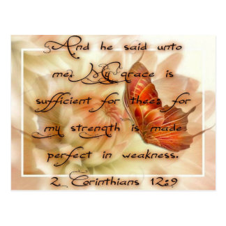 His Grace Is Sufficient Postcard