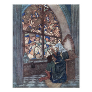 His Grandmother's Tale by Edmund Dulac Poster