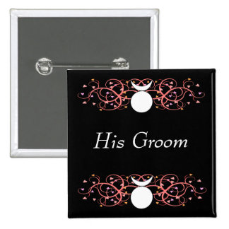 His Groom Wiccan Pin Dual Horned God
