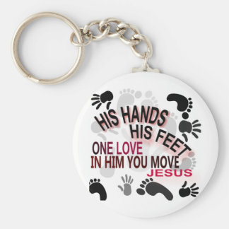 His Hands Key Ring