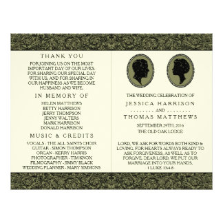 His & Hers Art Deco Silhouette Wedding Collection 21.5 Cm X 28 Cm Flyer