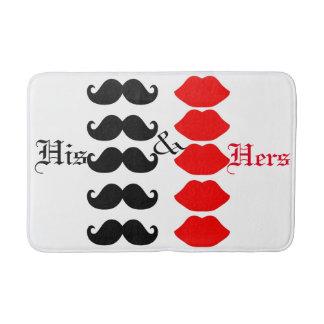 His & Hers, Bath Mat
