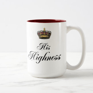 His Highness (part of his and hers set) Two-Tone Coffee Mug