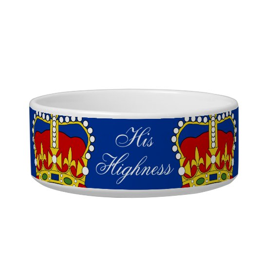 His Highness Pet Bowl customisable