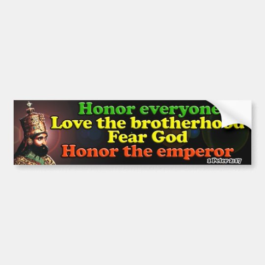 His Imperial Majesty Emperor Haile Selassie I Bumper