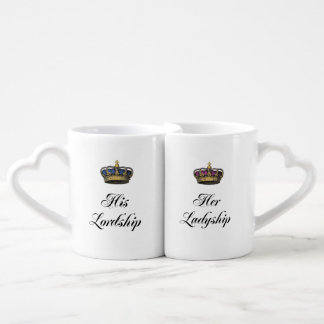 His Lordship and Her Ladyship mug set