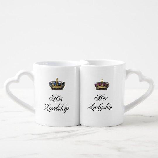 His Lordship and Her Ladyship mug set