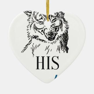 His Lordship Ceramic Heart Decoration
