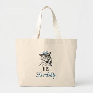 His Lordship Jumbo Tote Bag