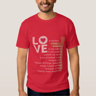 His Love Never Fails (Deluxe Catholic Red) T-shirt