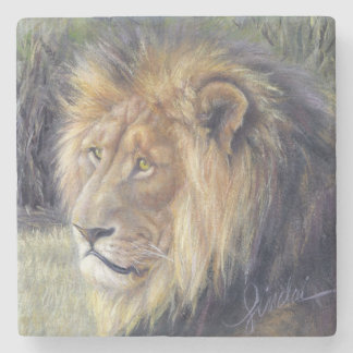 """His Majesty"" Lion Stone Coaster"