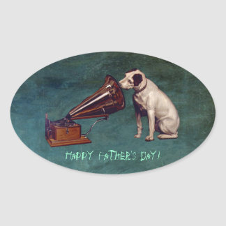 His Master s Voice Father s Day Oval Stickers