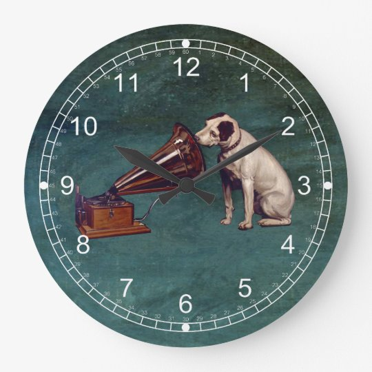 His Master's Voice Father's Day Large Clock