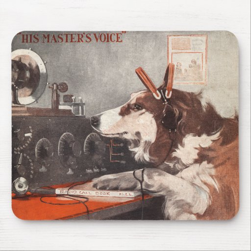 His Master's Voice Mouse Pads