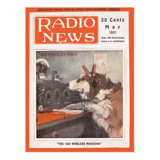 His Master's Voice Postcard