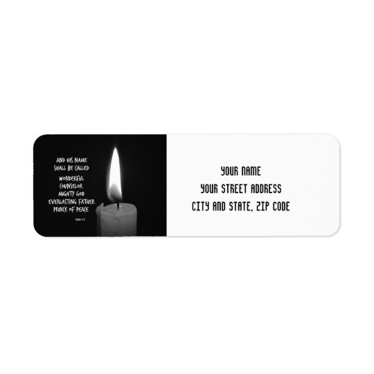 HIs name shall be Prince of Peace Bible Verse Return Address Label