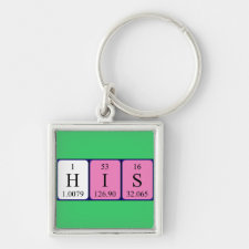 His Periodic table keyring