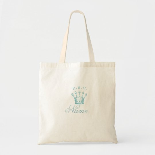 His Royal Highness with Crown in blue Tote