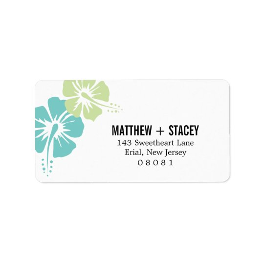 Hisbiscus Flowers Address Label