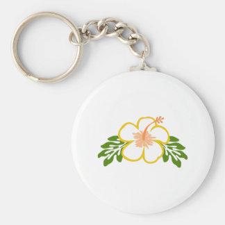 hiscus flower applique key chain