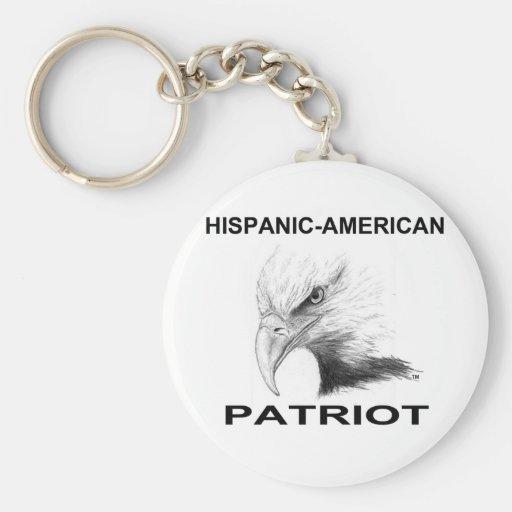 Hispanic-American Patriot Keychain