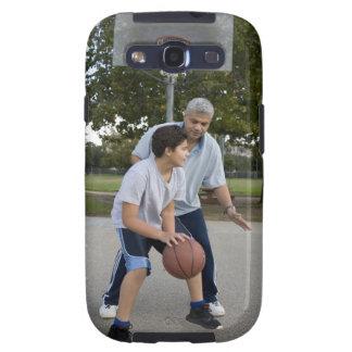 Hispanic father and son playing basketball samsung galaxy SIII cover